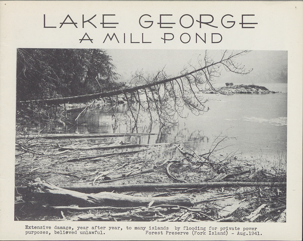 """Weed, Coolidge, Baldwin And Many Many Others Built Dam €�a"""" With The Lake  George, Glens Falls, Ticonderoga And Caldwells €� Yes The Caldwell Family  At"""