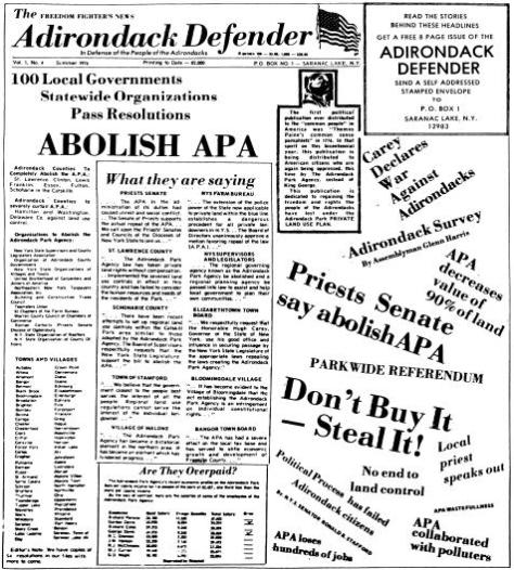 Adirondack Defenders - Abolish the APA